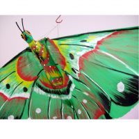 Butterfly Colored And Shaped Ceiling Decoration - 3 1/2 Feet Wingspan