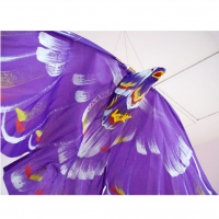 "Eagle Shaped And Colored Ceiling Decoration, 3' 7"" Wingspan"