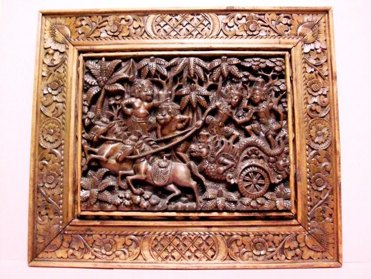 180 Degree Picture Carvings, Hand Carved & Colored From Wood