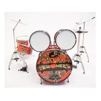 Helloween 11 Pieces Miniature Drum Set, Handcrafted, 1:6 Ratio