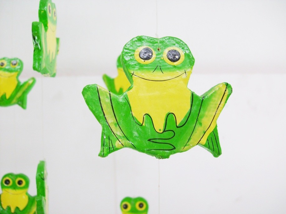Type Frog Themed Wind Chime