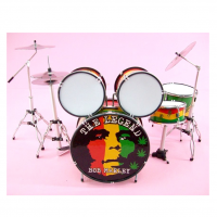 Bob Marley The Legend 11 Pcs Miniature Drum Set, Handcrafted, 1:6