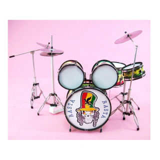 Rasta 10 Pieces Miniature Drum Set, Handcrafted, 1:6 Ratio